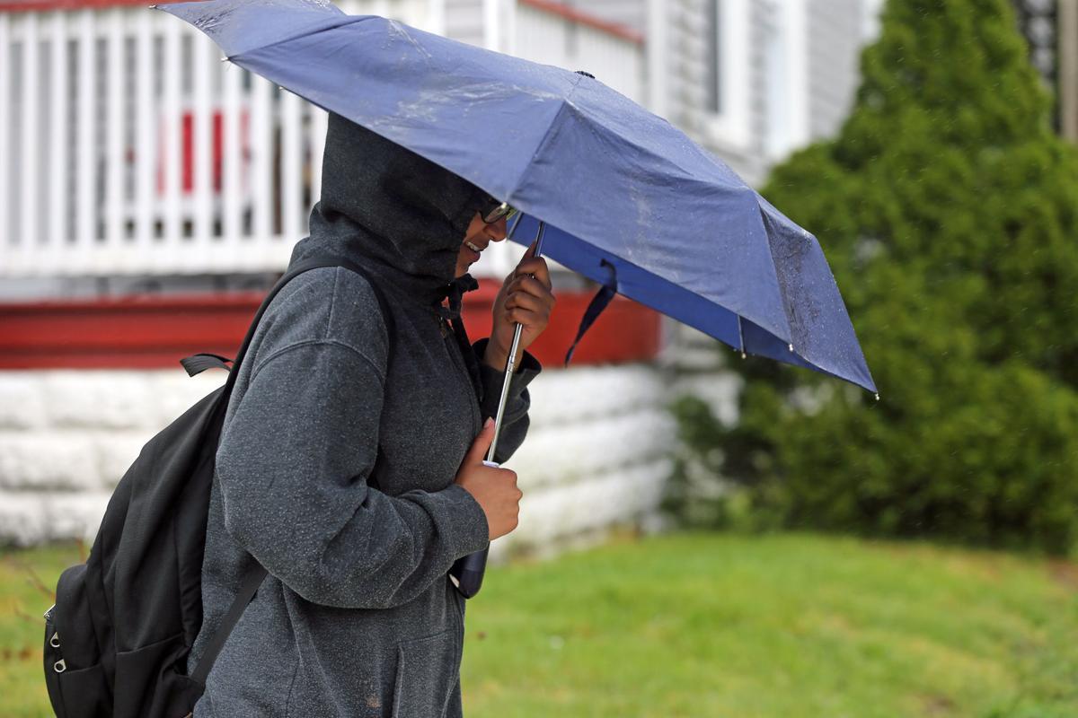 Rain and umbrella