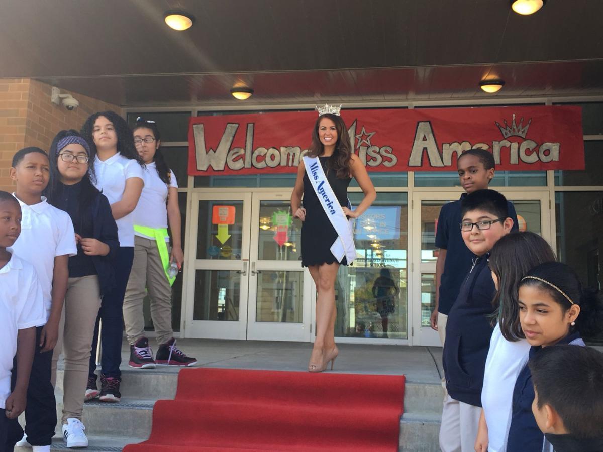 Miss America at Richmond Ave school
