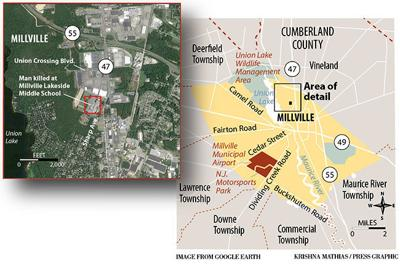 Millville shooting map