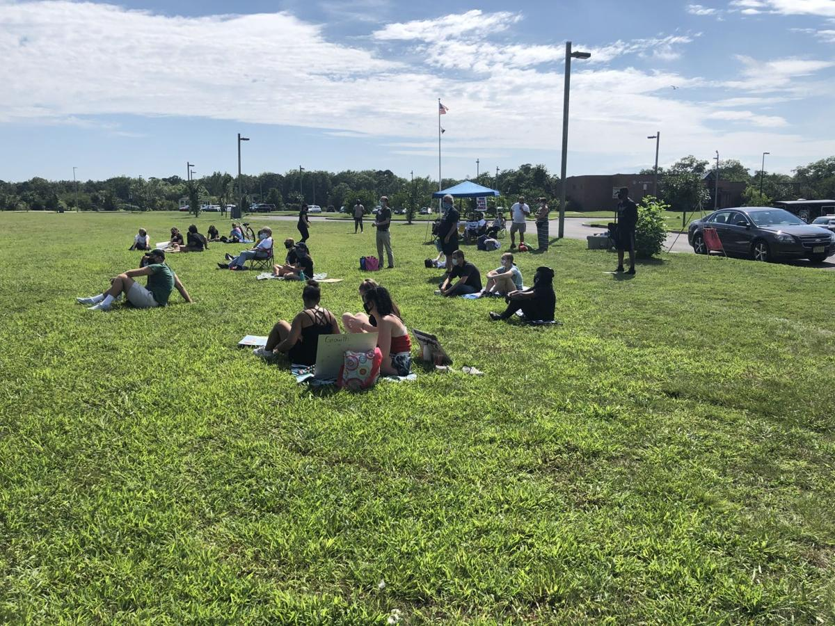 Internation Youth Day protest in Galloway Township
