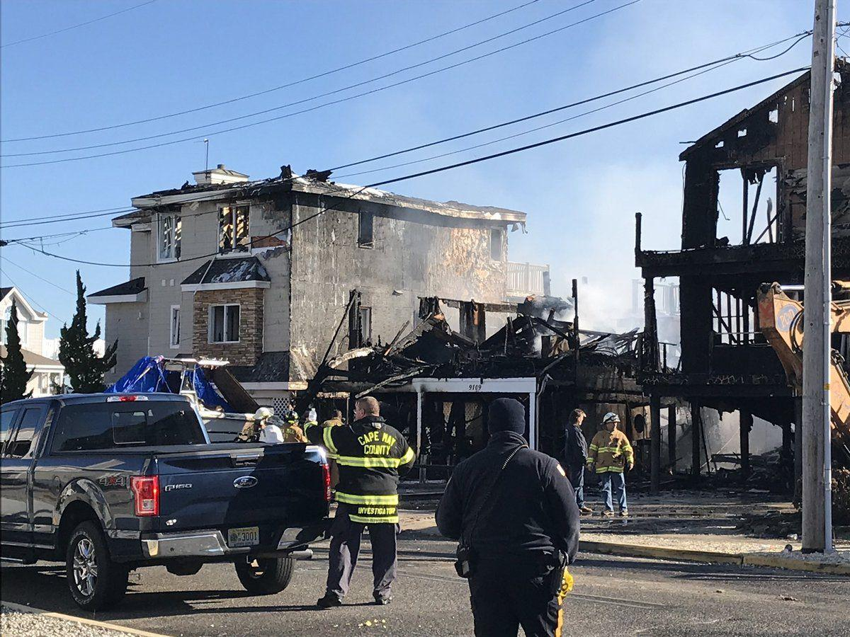Fire destroys at least two homes in Sea Isle City