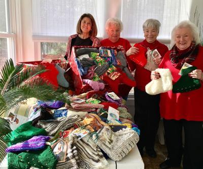 Ladies from Angels Catholic Church make season warmer for