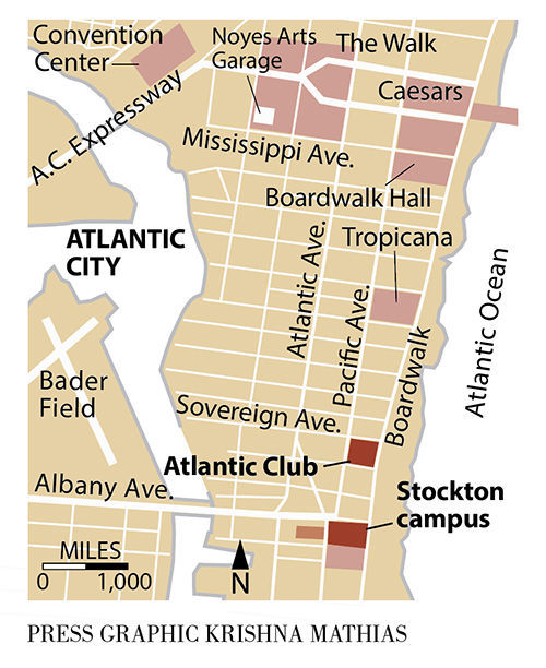 Stockton Atlantic Club map 8-2018