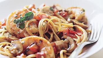 Fettuccini with Shrimp