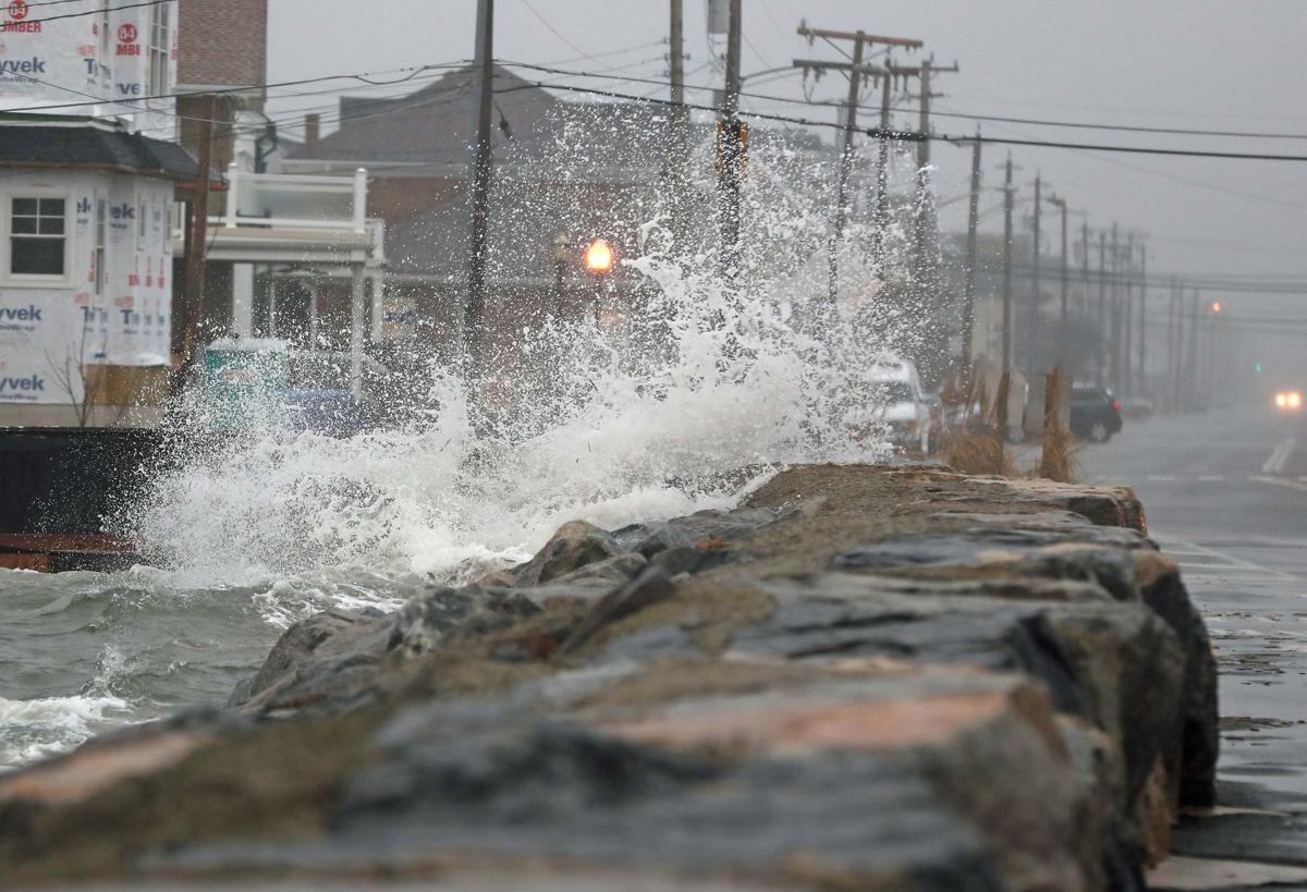 Coastal storm along the shore