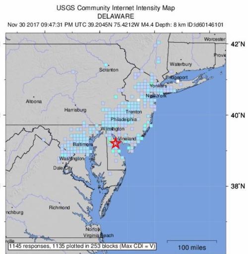 Us Geological Survey Map Of South Jersey Earthquake - Us-geologic-survey-maps