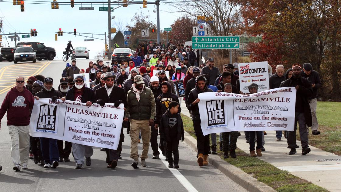 Pleasantville marches to end gun violence after fatal shooting of 10-year-old