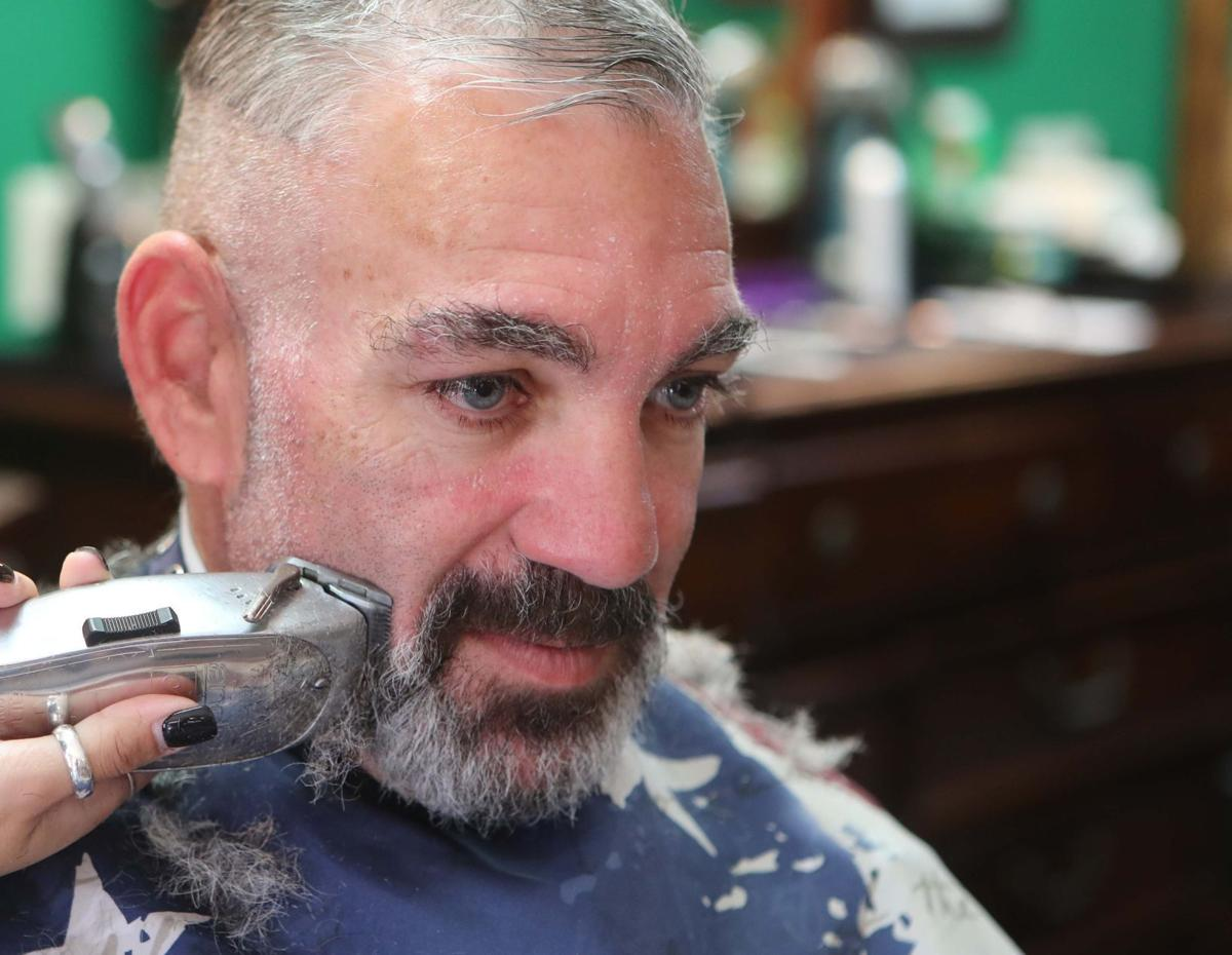 Atlantic City Police Officer Shaves After Monthlong Cancer