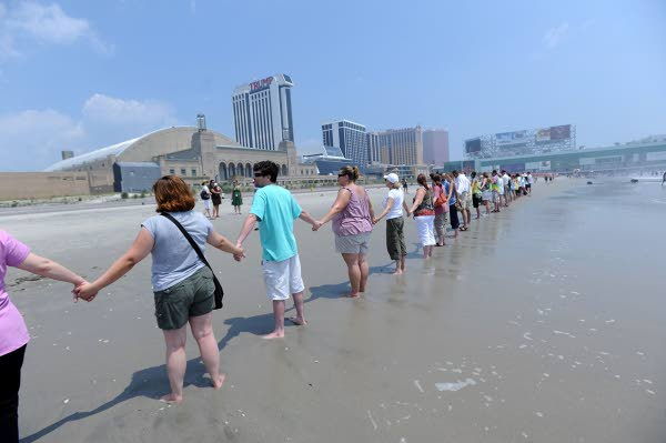 hands across the sand