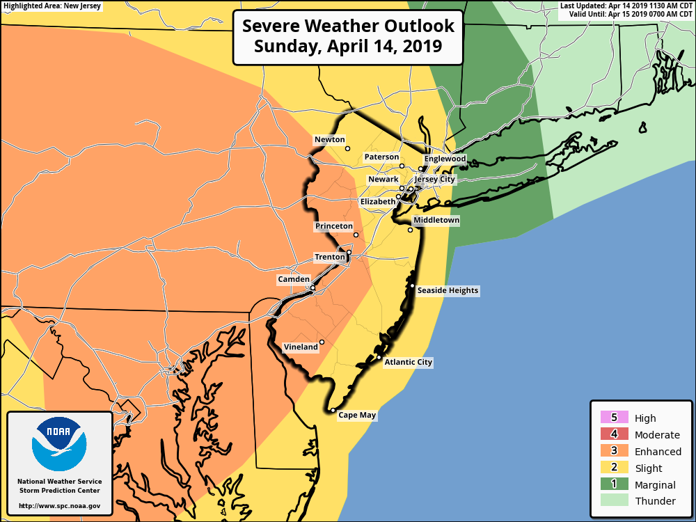 "We're in a ""slight"" to ""enhanced' risk of severe weather"