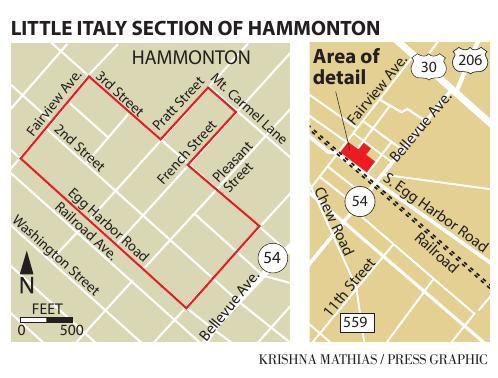 Little Italy Hammonton map 2019