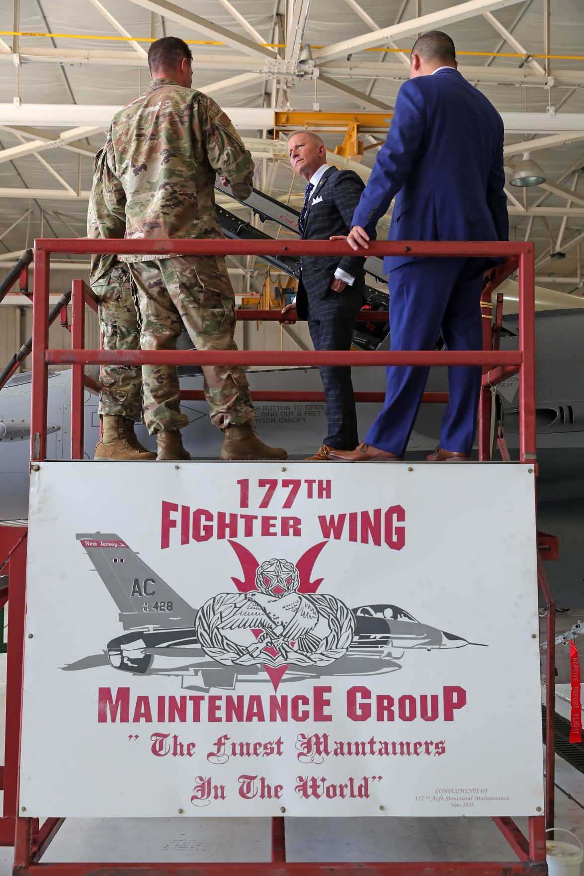 Congressman Jeff Van Drew toured 177th Fighter Wing