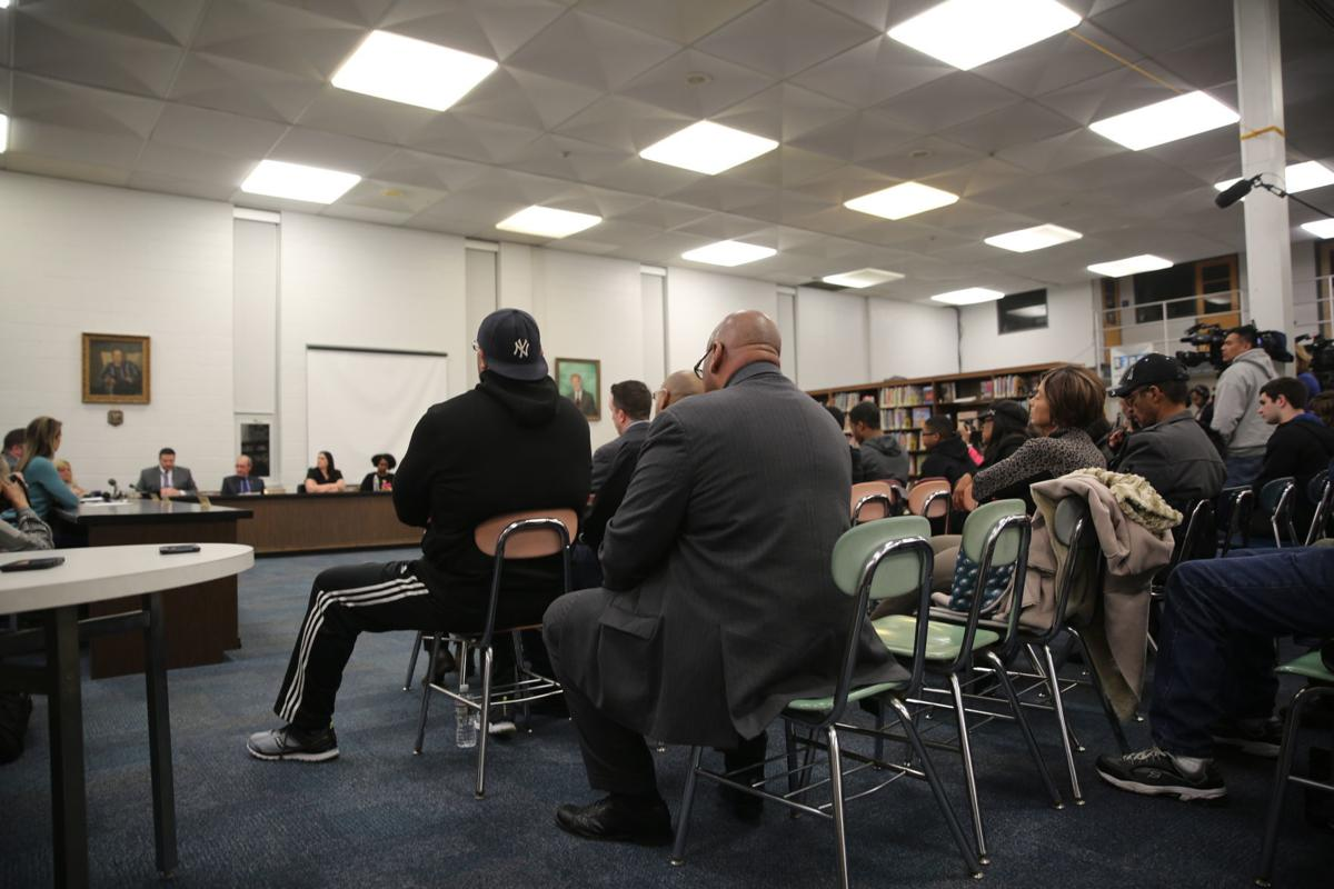 Buena Regional High School's library was full Wednesday for an emergency meeting