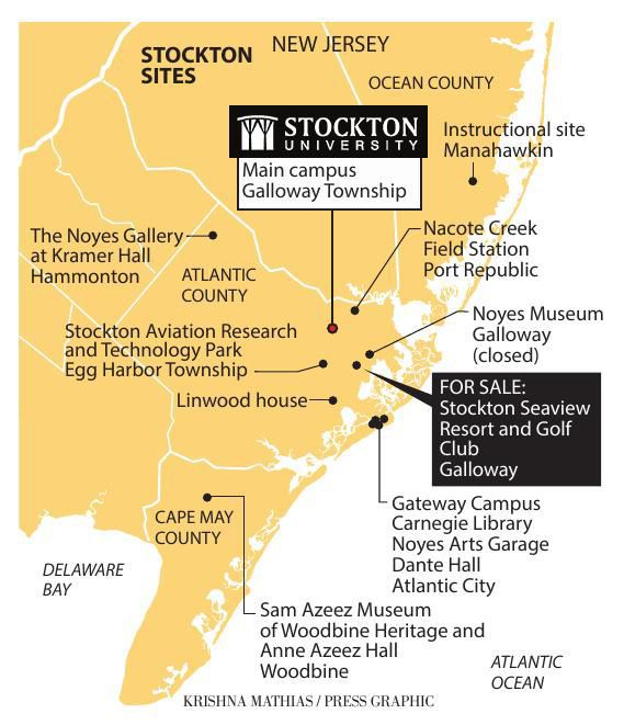 Stockton University Seaview map 4-2018