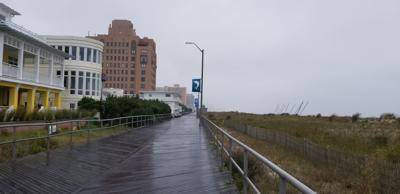 The Ventnor Boardwalk was quiet and lonely Friday