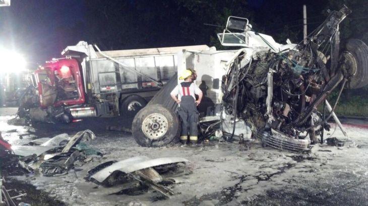 Two drivers hurt in Route 50 dumptruck crash