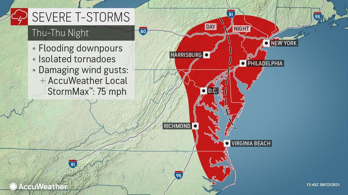 Weather: Damaging winds, tornadoes possible as cold front passes Thursday