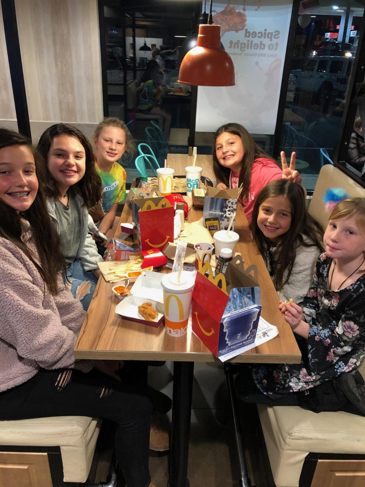 Dennis Township Middle School 6th grade McDonald's fundraiser