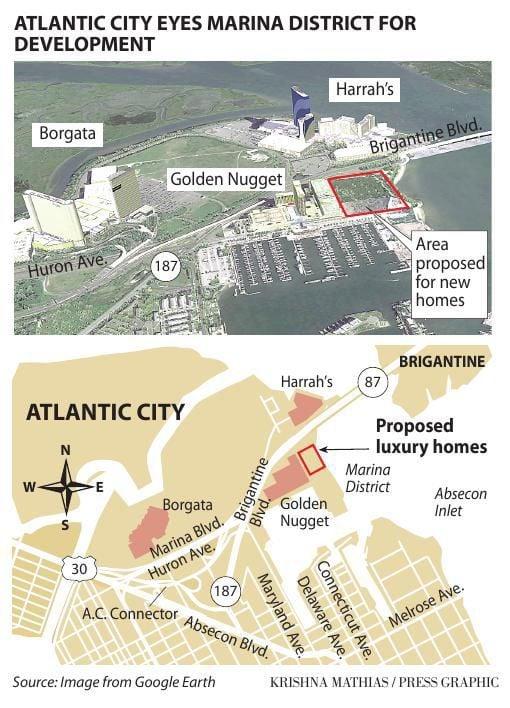 Atlantic City new housing marina map