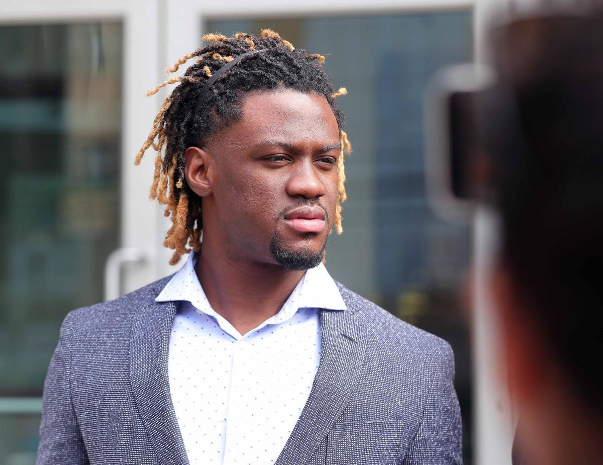 Odubel Herrera outside the Courthouse