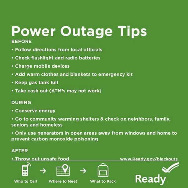 Graphic: Power Outage Tips