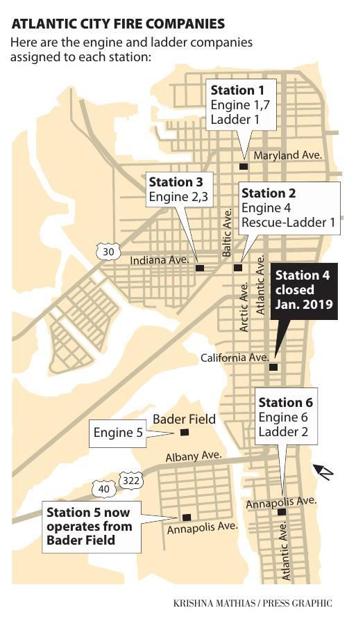 Atlantic City Fire Department map 2019