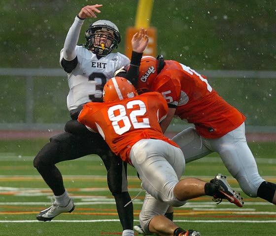 Cherokee defense, rain stop Egg Harbor Township