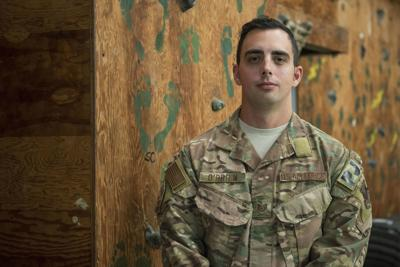 An airman was on his way to pick up an award for heroism. But first, he saved a baby.
