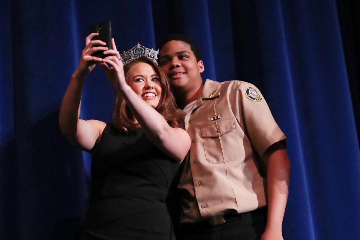Miss America 2018 Cara Mund visits Atlantic City High School