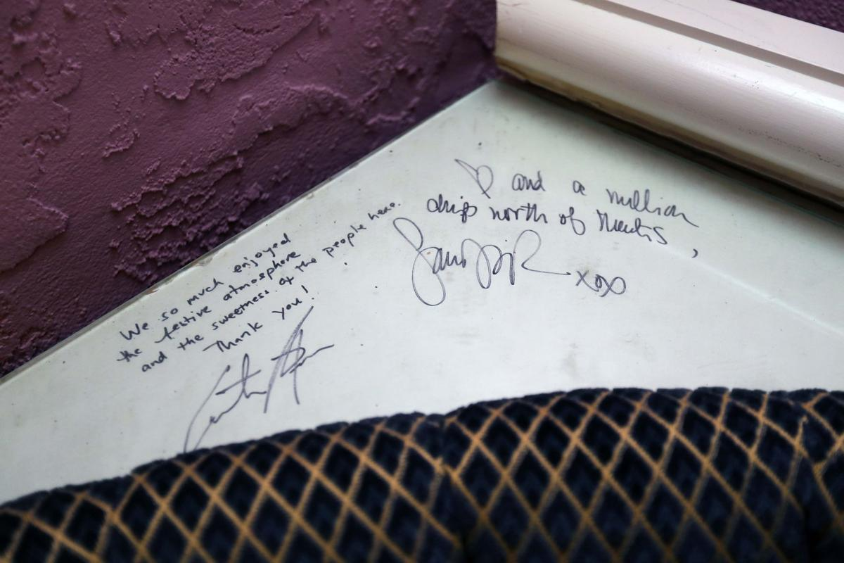 Autographed booth from the set of a Sex and the City