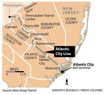 Atlantic City rail line map 2018