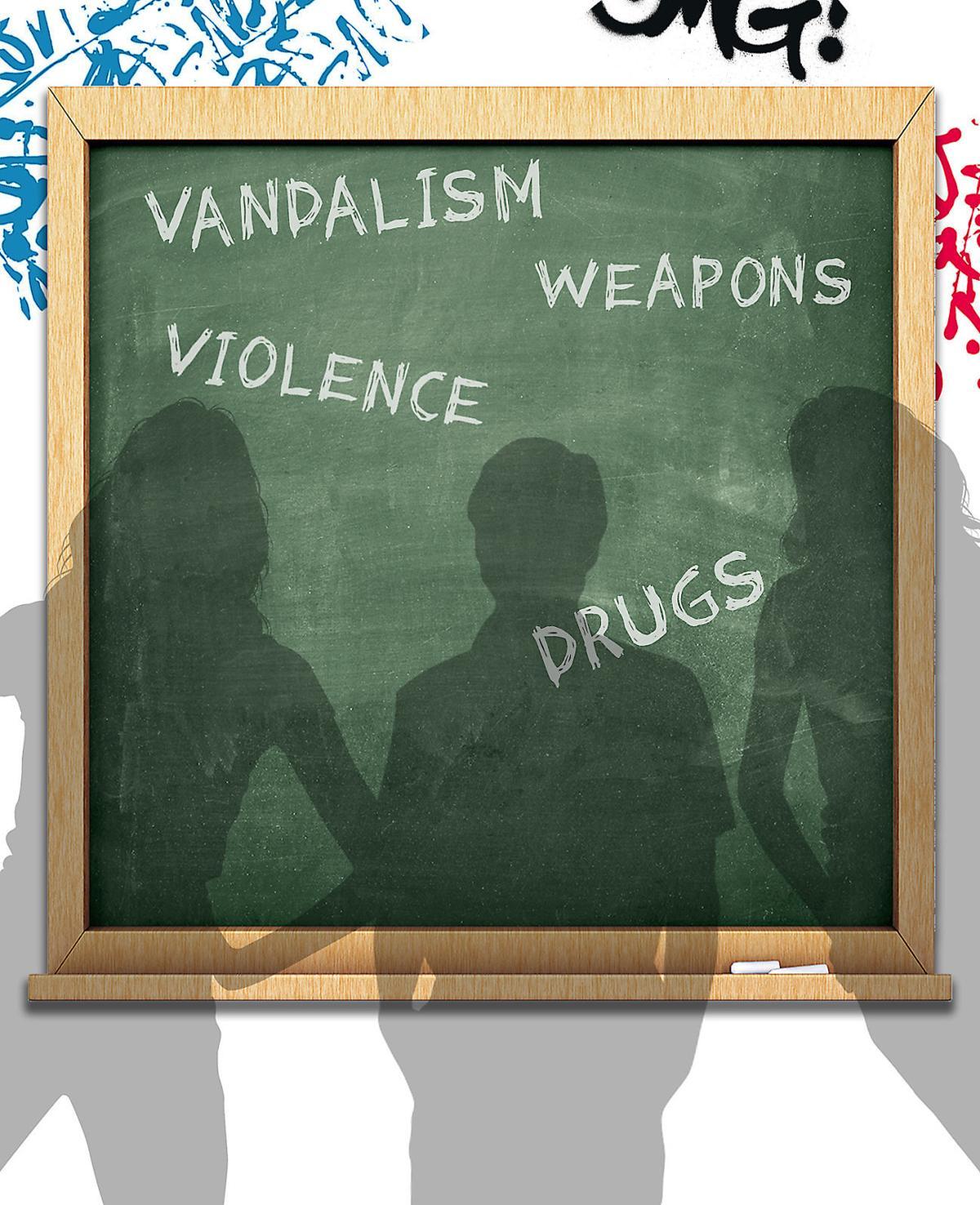 School violence illustration