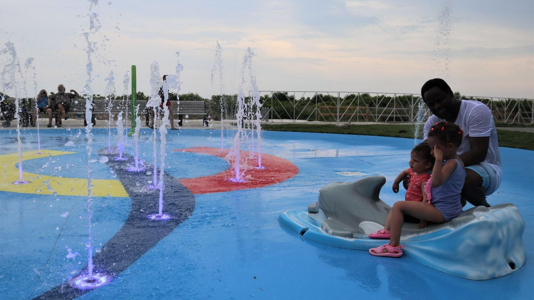 New fountain park in Wildwood Crest opens with little fanfare, but big splash