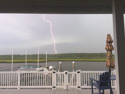 Severe storms sweep across South Jersey