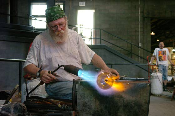 Learn how they  make glass bottles
