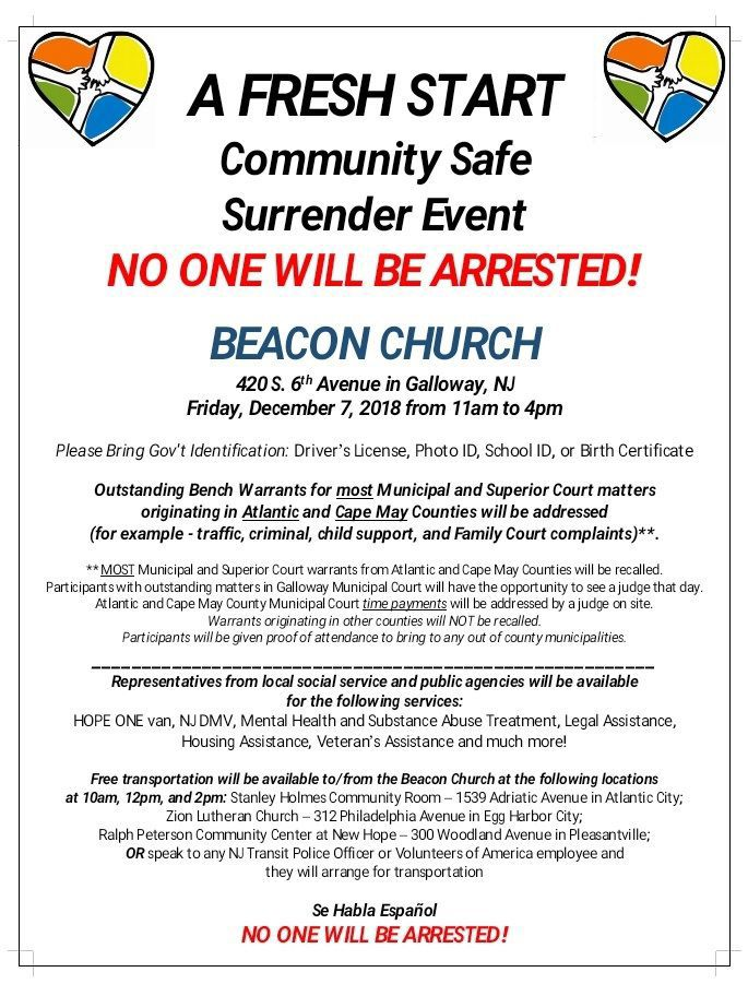 Get your warrants cleared Friday in Galloway | Crime
