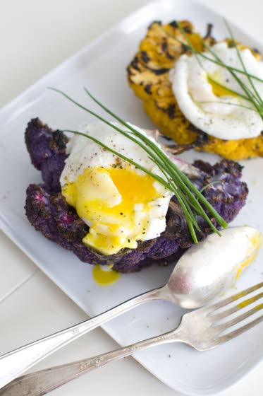 Steak and eggs, by way of the veggie patch