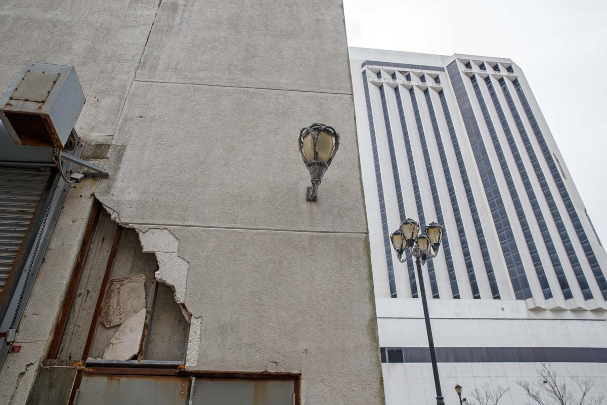 Exterior photos of the vacant Trump Plaza casino