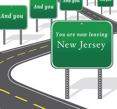 Leaving New Jersey illustration online