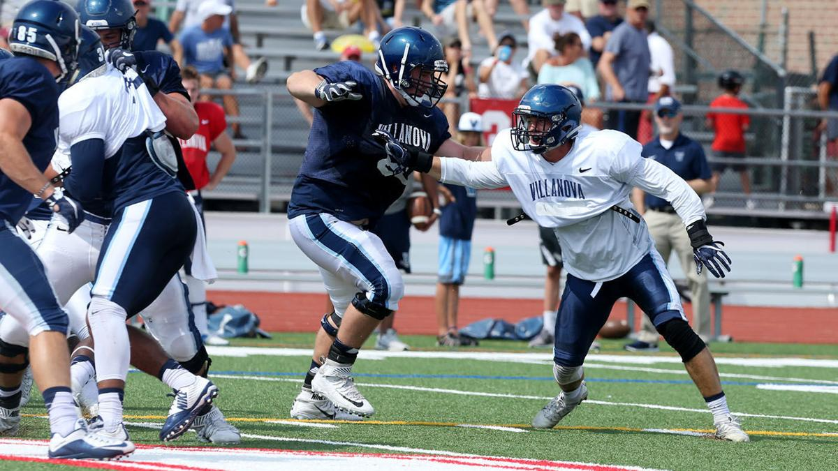 Villanova football team practices in Ocean City