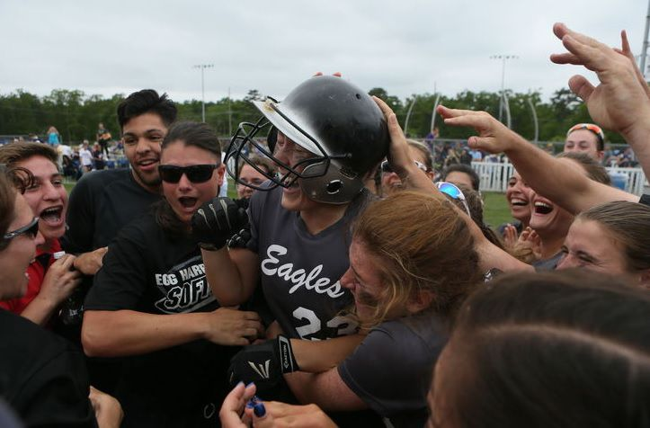 EHT softball team celebrates