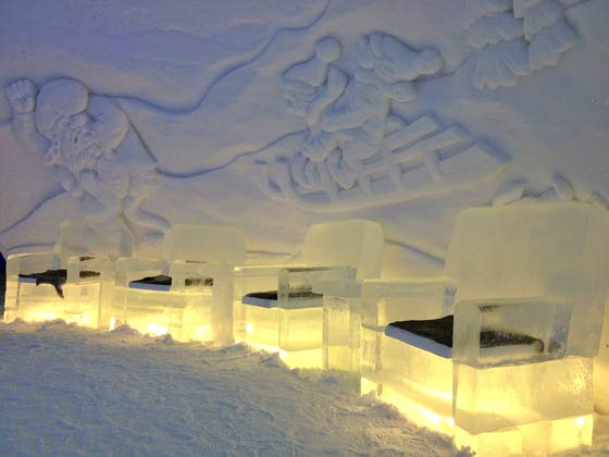 Nature the focal point at 'Snow hotel'