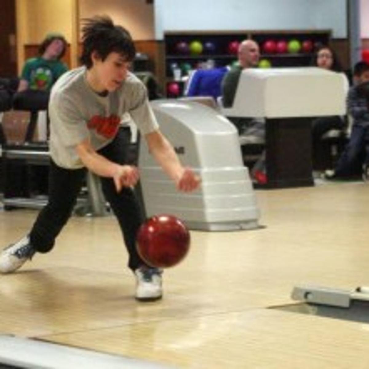 Egg Harbor Township state champion bowler Tim Wolchko keeps