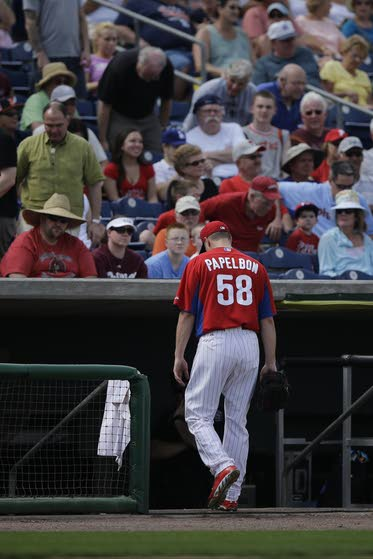 Papelbon's ERA an usightly 81.00 after first outing