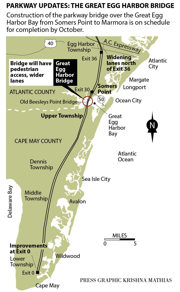Great Egg Harbor Bridge Parkway map 2-2016