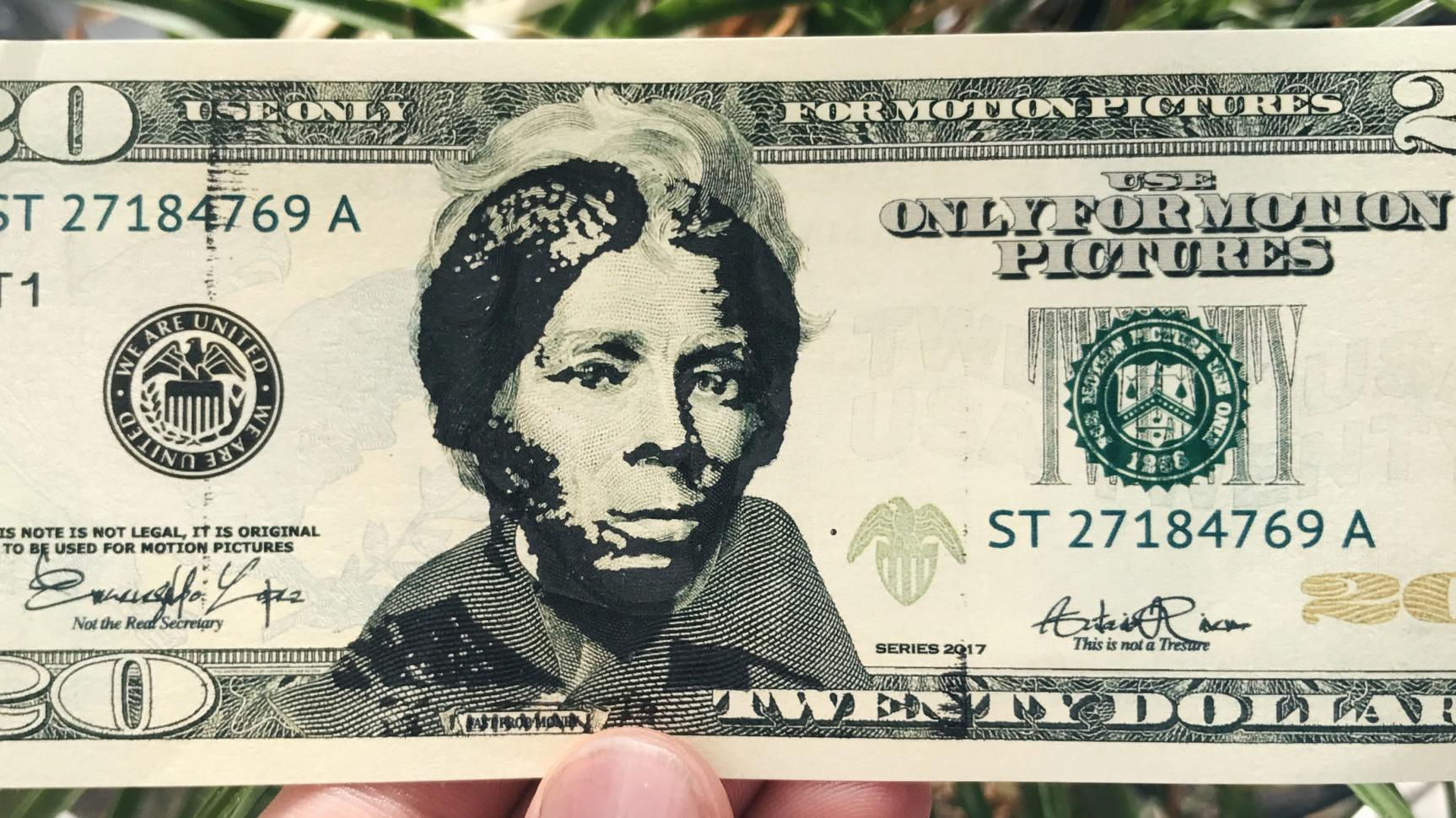 Harriet Tubman is already appearing on $20 bills after a designer created a stamp to superimpose her image