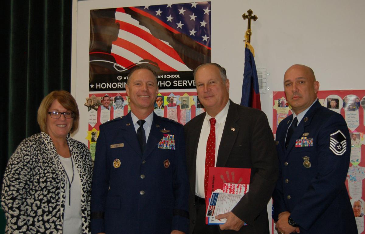 1_Chief-School-Administrator-Karen-Oblen-Guest-Speaker-Major-General-Mark-Loeben-with-EHT-Mayor-Paul-Hodson-and-Master-Sergeant-David-Heritage-USAF.jpg