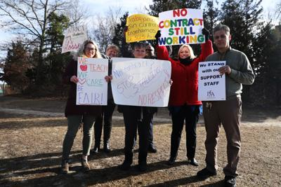 Pleasantville teachers fight for contracts