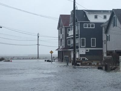 Back bay flooding