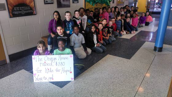 Hess Elementary School students become pioneers in fundraising in Kids for Hope